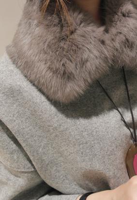 Rabbit fur collar (3color)