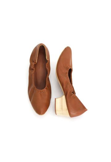 Wood bending kitten heels (3color)