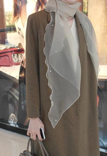 Romantic Pearl Scarf (4color)
