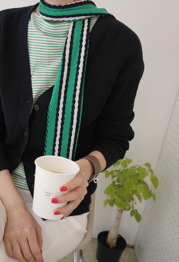 Low pleated scarf (3color)