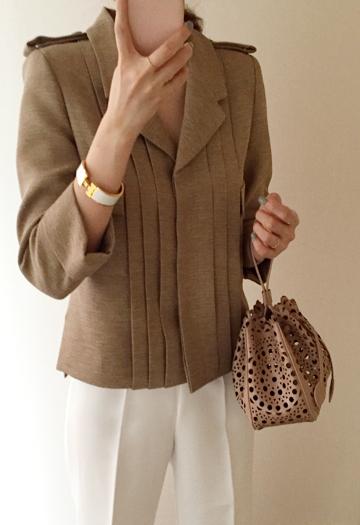 Noble tweed jacket (3color)