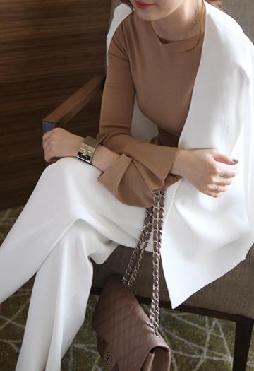 Feminine knit solid (4color)