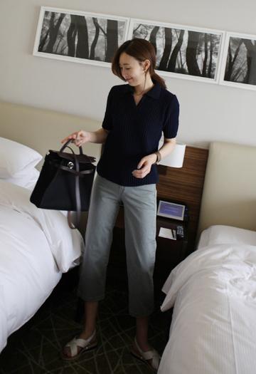 Two-button pants (3color)