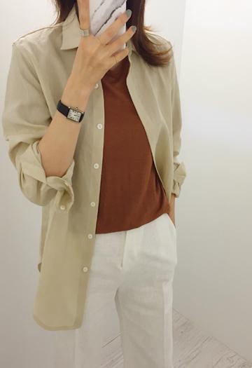 Basic linen shirt (4color)