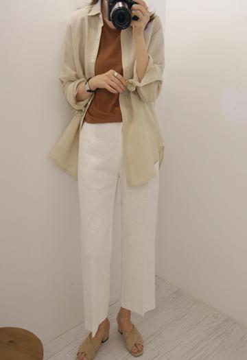 Intact linen pants (4color)