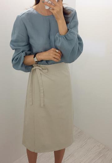 Pulse linen blouse (5color)