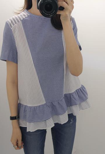 Double ruffle blouse (2color)