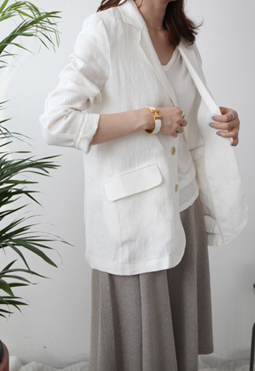 Claims linen jacket (ivory)