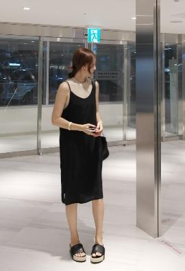 Bass slip dress (4color)