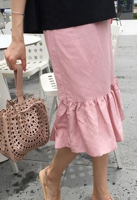 [Back Band - Pink frill skirts