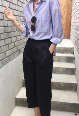 Shuffle striped shirt (2color)