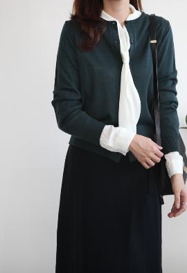 Basic round cardigan (8color)