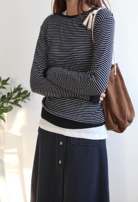 Enjoy stripe knit (3color)
