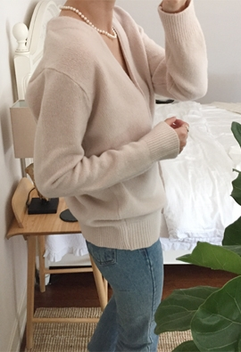 [Cashmere] cardigan Teak (3color)