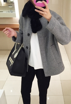 Rex knitted scarf (black)