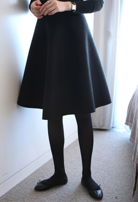 Volume flared skirt (2color)