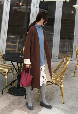 Twofold Long Cardigan (3color)
