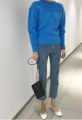 [Angora] Lucky knit (blue)