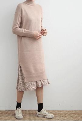 Begin knit dress (4color)
