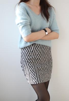 Angle skirt (3color)