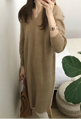 [Cashmere] Swell Knit Dress (3color)
