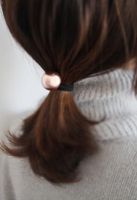 Metallic Ball Hair Tie (3color)