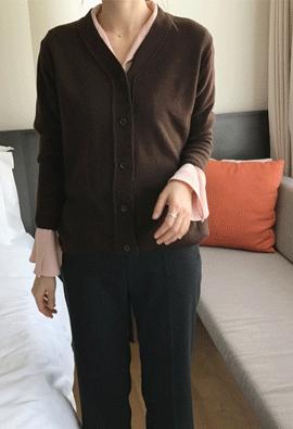 [Cashmere] Platy cardigan (4color)