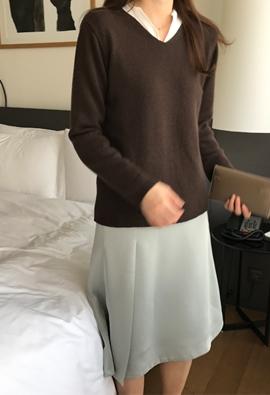 [Cashmere] Omission knit (3color)
