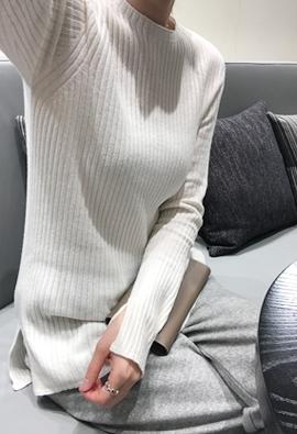 [Cashmere] [Wholegarment] split knit (5color)