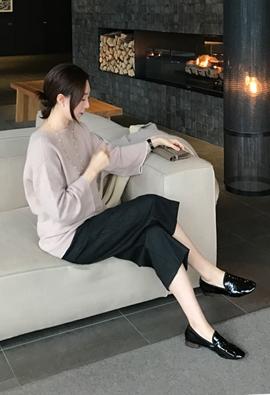 Color tip knit (3color)