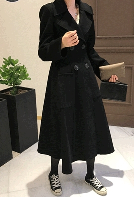 [Cashmere] Carol flared coat
