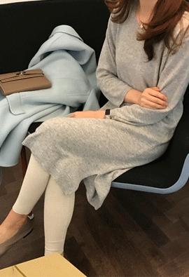 [Cashmere] Breeze knit dress (2color)