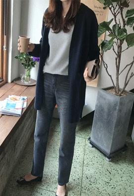 [Cashmere] Looknig cardigan (3color)
