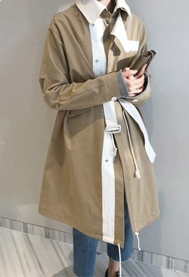 Feature trench coat (2color)