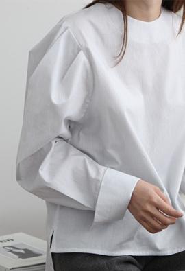Line puff blouse (2color)
