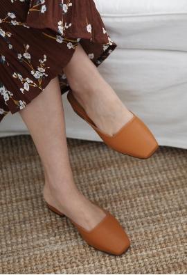 Square toe mule (4color)