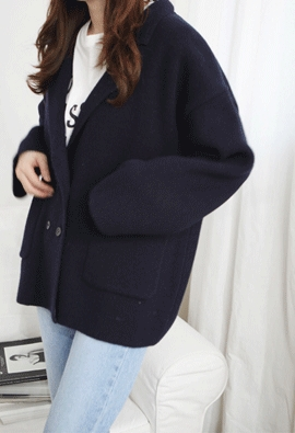 Double knit jacket (4color)