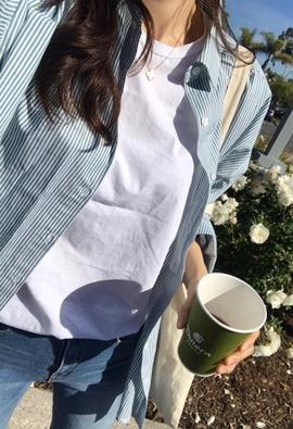 Grassy stripe shirts (2color)
