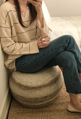 V stripe knit (2color)