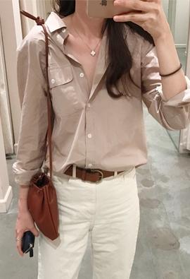 Left pocket shirt (beige)