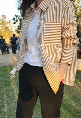 Bold striped shirt (3color)