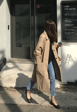 To be trench coat (2color)