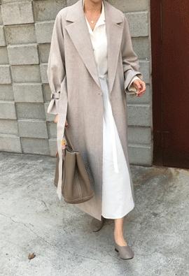 Decent long coat (2color)