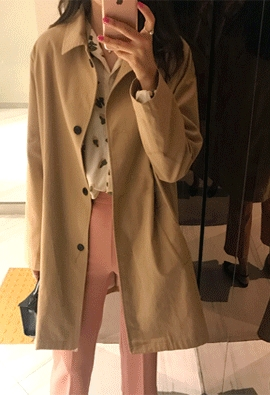 Cotton trench jacket (3color)
