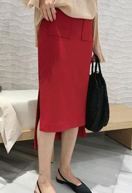 Pocket slit skirts (2color)