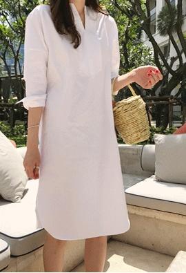 Pure cotton dress (3color)