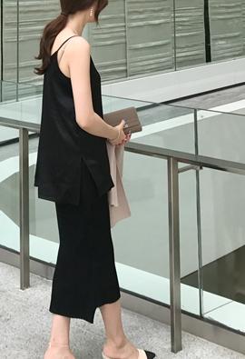 Silk 95%; silk camisole top (black)