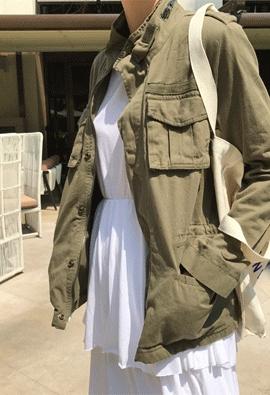 Khaki safari jacket
