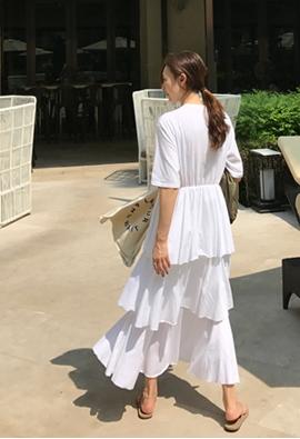 Cotton cancan dress (4color)