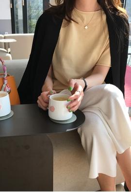 [Wholegarment] Roller half knit (2color)